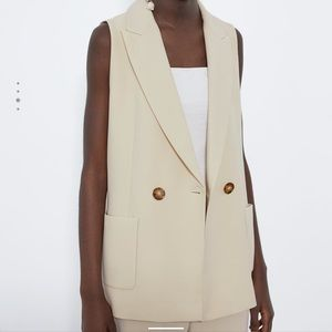 Zara Vest with Pockets in Ivory
